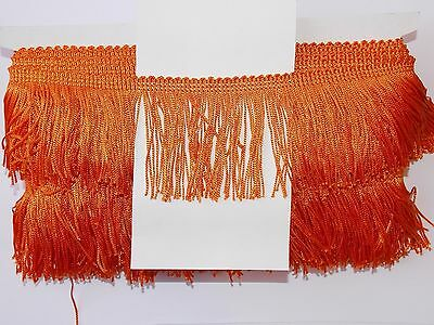 "1m 2.5"" 6cm drop Tassel Fringe / Fringing Trim lace trimming deep orange"