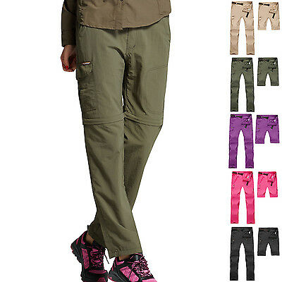 Hot Womens Outdoor Quick Dry Detachable Casual Pants Fishing Hiking Trousers New