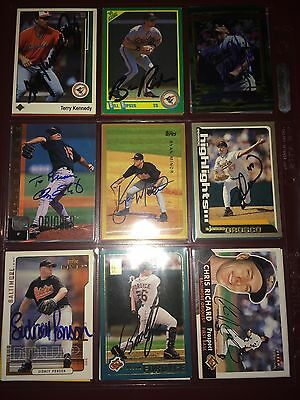 fr. Baltimore Orioles MLB auto autograph 9 baseball card LOT Sidney Ponson +more