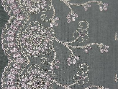 Wide Embroidered Tulle Lace