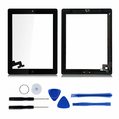 Für iPad 2 A1395 A1396 Display Touch Screen Glas Blldschirm Digitizer Schwarz