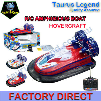 1/10 RC Hovercraft Amphibious Vehicle Goes Water & Land Remote Control Boat