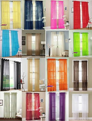 Trendy Floral Tulle Voile Door Window Curtain Drape Panel Sheer Scarf Divider