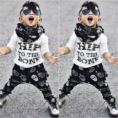 Casual Toddler Baby Kids Boys Clothes Set T-shirt Tops Camouflage Pants Outfits