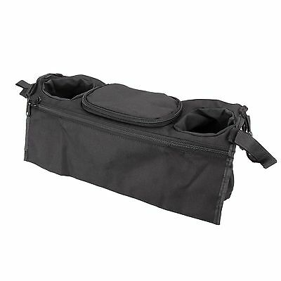 Baby Stroller Organizer Carriage Pram Buggy Cart Bottle Cup Bags Black