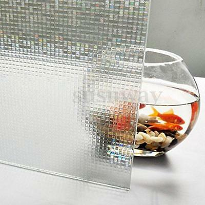 3D Privacy Frosted Static Glass Window Film NO Glue For Home Bedroom Bathroom