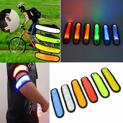 LED Safety Reflective Belt Strap Arm Band Outdoor Sports Night Cycling Running