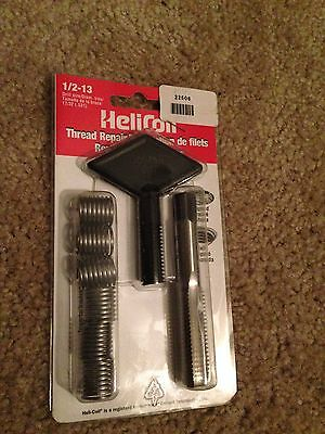 Helicoil 1/2-13 New Complete Thread Repair Kit With 6 Inserts