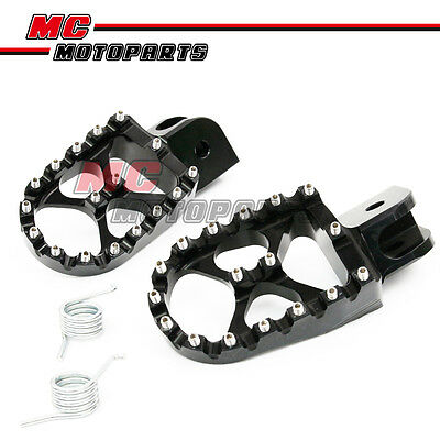 MX Dirt Front Black CNC Foot Pegs For BMW R1200GS 04-12 05 06 07 08 09 10 11 12