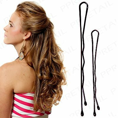 210Pc BOBBY PINS Small-Large Waved Hair Grips Granny Clips Kirby Styling Hold
