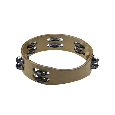 """Stagg 8"""" Headless Wooden Tambourine - 2 Row of Jingles"""