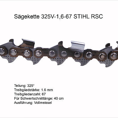 Stihl Sägekette Rapid Super (RS) 325 1.6 mm 67 TG Vollmeissel