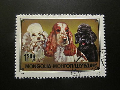 1978 - Mongolia - Cocker Spanish And Poodles - Scott 1036 A235 1,25T - Me