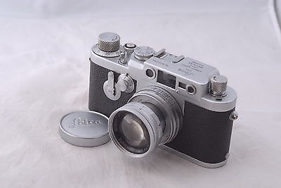 Leica 3G Camera with 50mm f/2 Summicron Lens in Ext Condition,SM IIIG #826094