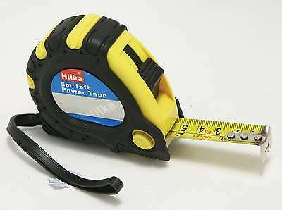 HILKA 1pc clip on tape measures 5 metre 16ft metric imperial TRADE  locking DIY