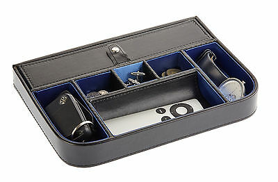 Top quality valet tray desktop storage case cufflinks watch organiser box