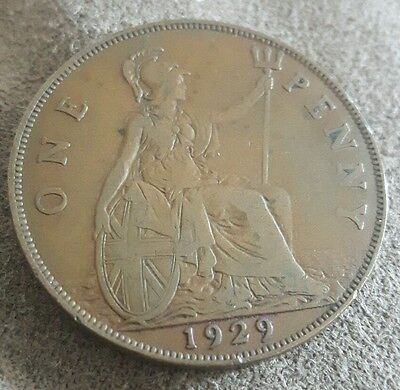 1915 GREAT BRITAIN PENNY COIN  Low Mintage - Rare Date