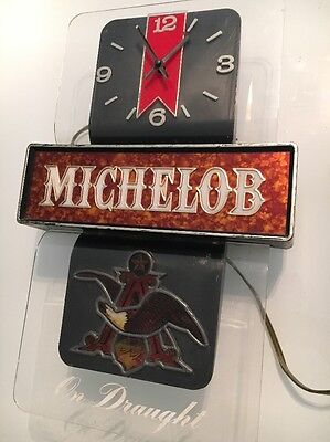 Michelob On Draught Clock And Lighted Sign