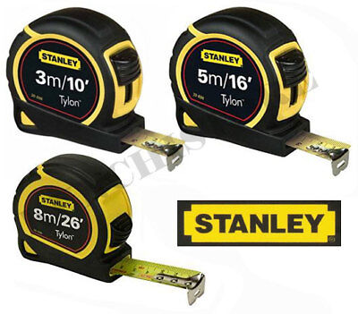 Stanley Pocket Tape Tylon Blade True Zero 3m/10ft 5m/16 ft 8m/26ft