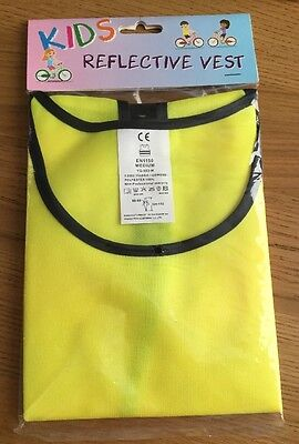 Kids Safety Hi Vis Vest - Yellow Reflective Vest - Medium Size - Brand New