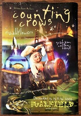 Counting Crows The Wall Flower 2003 Bill Graham Rock Warfield Concert Poster