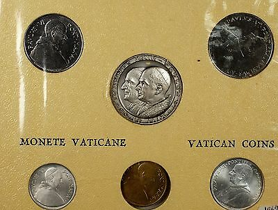 Vatican 5 Coin Souvenir Set Brilliant Uncirculated Coins with Mint Token
