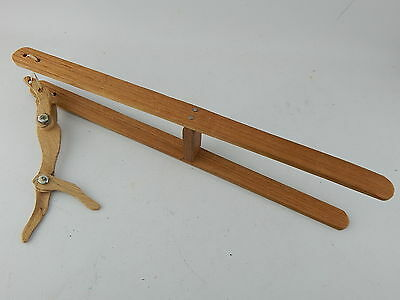 VINTAGE Americana Wooden Trapeze Flip Squeeze Toy LOOK