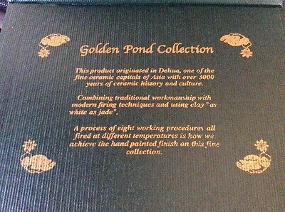 Golden Pond Collection - Hand Crafted Ultra Fine Ceramic Frog