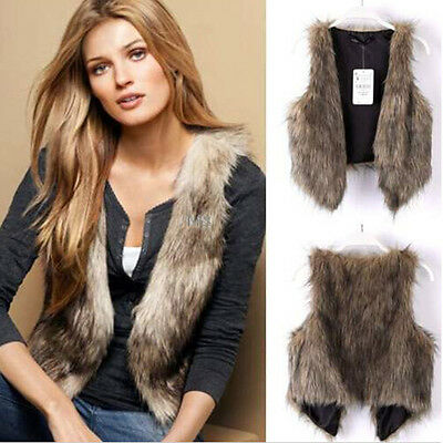 Winter Warm Sleeveless Coat Vest Waistcoat Gilet Jacket Women Ladies