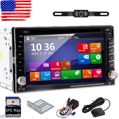 "6.2"" HD Double 2Din In Dash Car Stereo Radio DVD CD Player GPS Navi BT+Camera"
