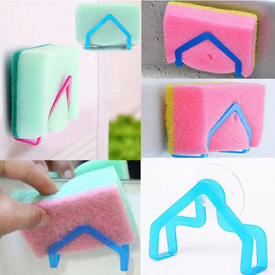 2Pc Plastic Sponge Holder Suction Sink Kitchen Practical Gadget Convenient Tools
