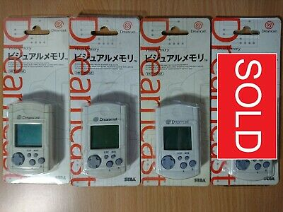 DC Sega Dreamcast Official/Genuine Visual Memory Unit System (Boxed) VMU/VMS