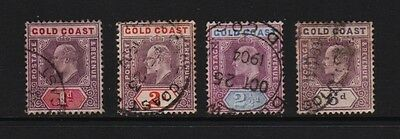 Gold Coast - 4 from 1902 set, used, cat. $ 22.75