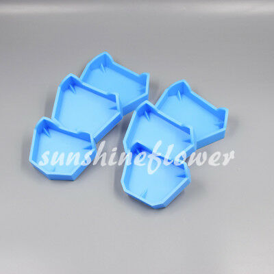 6x/3Pairs Dental Lab Model Base Former Molds for Tray Loading with Notches S/M/L