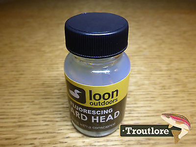 Loon Outdoors Fluorescing Hard Head Cement Clear Fly Finish New Fly Tying Glues