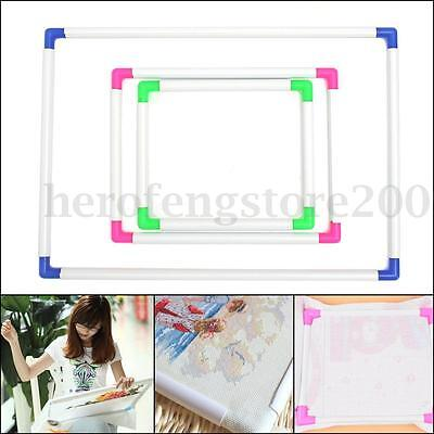 Plastic Embroidery Cross Stitch Frame Universal Hand Holding Portable Craft Tool