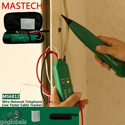MASTECH Network Cable Tester Telephone Phone Wire LAN Line Finder Tracker Green