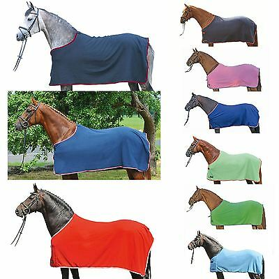 HKM Fleece Rug Alaska Fleece Breathable Metal Buckles Horse Protection Blanket