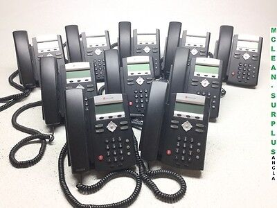 Lot of 10 Polycom IP 321 SoundPoint VoIP Business Display Phones - Working!