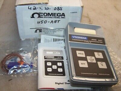 New Omega Type E Thermocouple Thermometer Model 450Aet