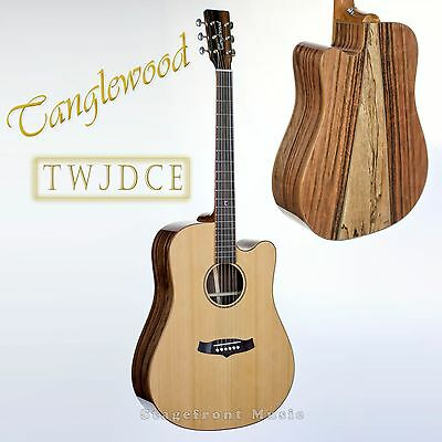 Tanglewood Tjdce Split Back Java Wood Acoustic/electric Guitar.solid Cedar Top