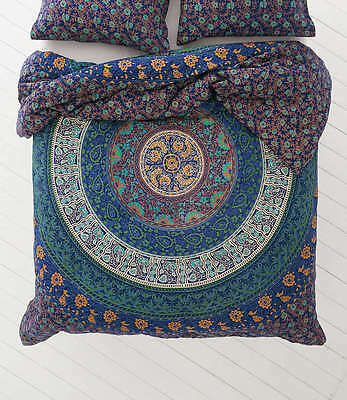 Queen Indian Wall Hanging Hippie Mandala Tapestry Bohemian Blue Bedspread Throw