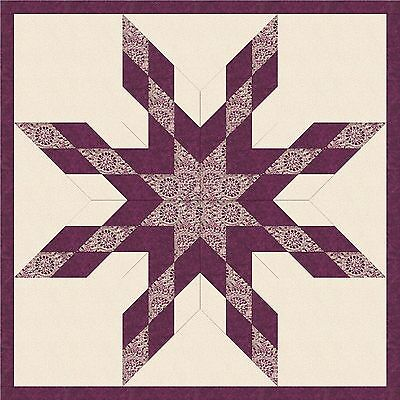 INDIA'S STAR  QUILT TOP - Not Quilted, Machine Pieced. Made in the USA!