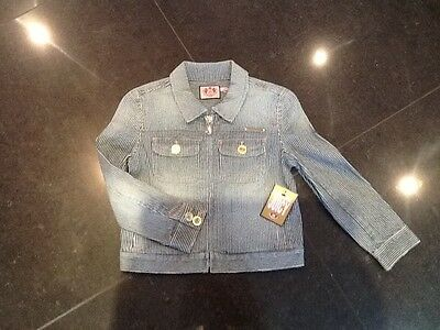 NWT Juicy Couture New & Gen. Girls Denim Bomber Jacket With Juicy Logo Age 10