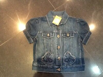 NWT Juicy Couture New & Genuine Girls Denim Jacket With Juicy Couture Logo Age 8