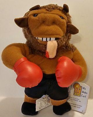 1998 The Idea Factory Infamous Meanies Beanbag Plush Mike Bison China Nwt