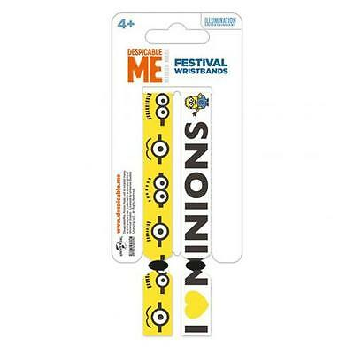 Official Licensed Product Despicable Me Festival Wristbands Minions Arm Gift New