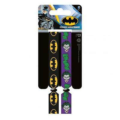 Official Licensed Product Batman Festival Wristbands Joker Arm Band Gift New