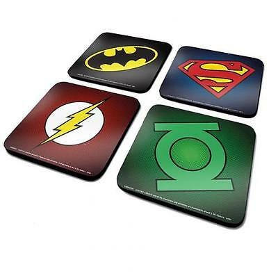 Official Licensed Product DC Comics Coaster Set 4 Pack Table Fun Gift Fan New