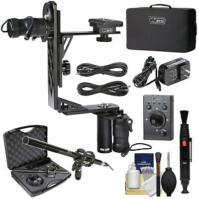 Vidpro MH-430 Professional Motorized Pan & Tilt Gimbal Head with Remote Control